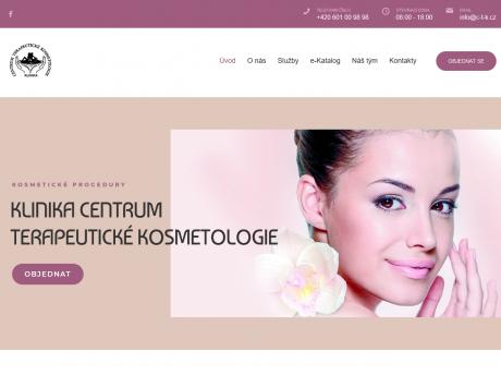 Сайт для клиники терапевтической косметологии в Праге