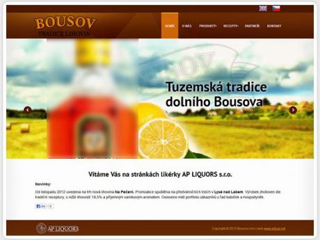 Cайт для производителя ликеро-водочной продукции в Чехии