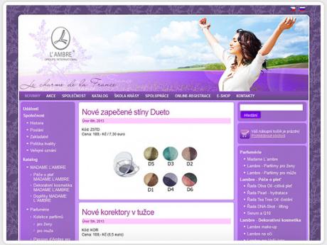 Интернет-магазин по продаже косметики Lambre в Чехии