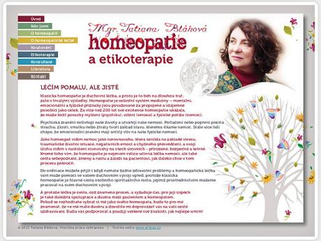 Сайт для гомеопата в Праге