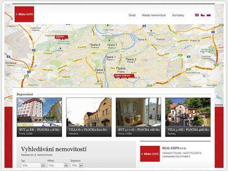 Сайт по поиску и покупке недвижимости в Чехии
