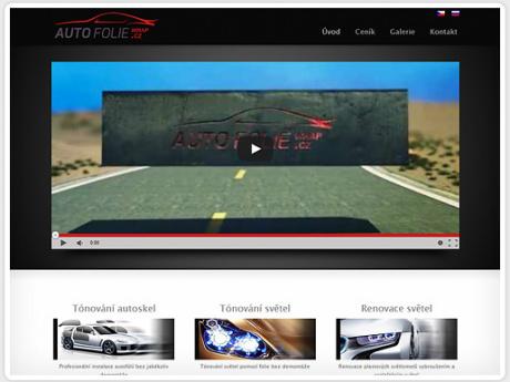 Сайт для компании, предоставляющей услуги автостайлинга в Праге