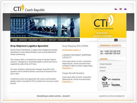 Сайт для крупной чешской транспортной компании
