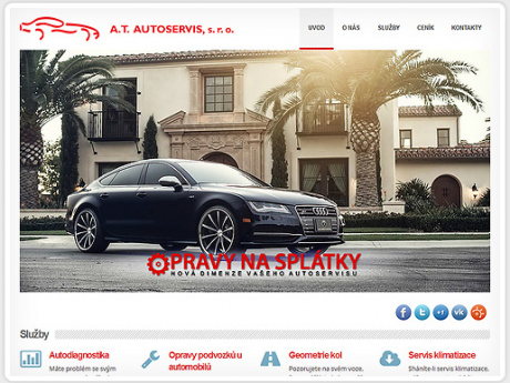 Сайт для авто-сервиса на Праге 3