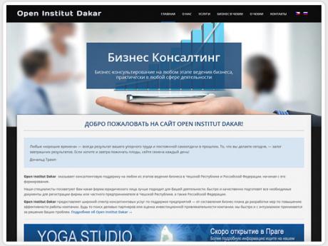 Сайт для консалтинговой компании в Праге