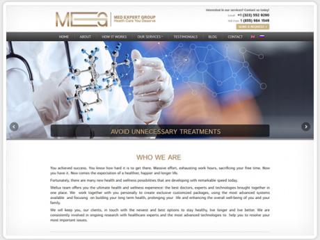 Сайт для компании-куратора медицинского обслуживания в США